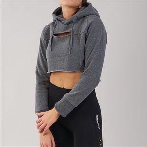 NWOT Gymshark cropped raw edge hoodie